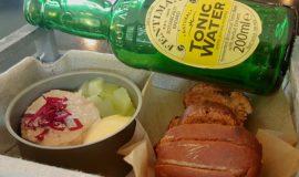 Foie micuit, crema de llima, cogombre, Hendricks, Fentiman´s